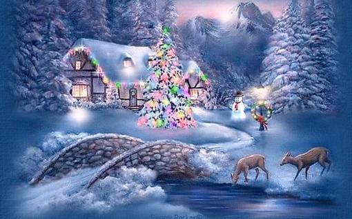 imagini-de-craciun-peisaj-iarna
